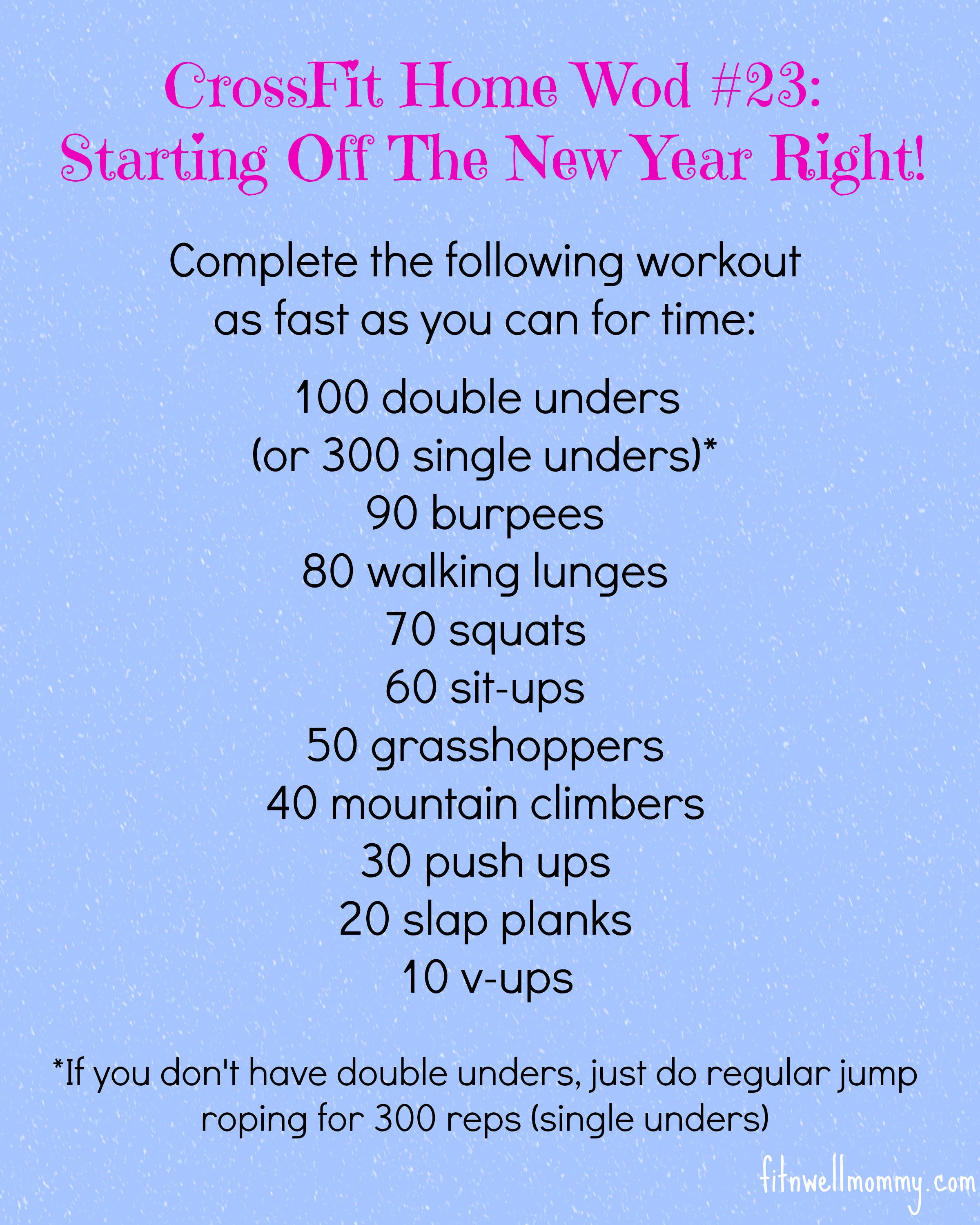 Results Crossfit Workout: CrossFit Home Wod #23: Starting Off The New Year Right